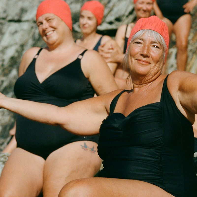 Shot from Pandora's Our Sisterhood series starring the Bluetits swimming group.