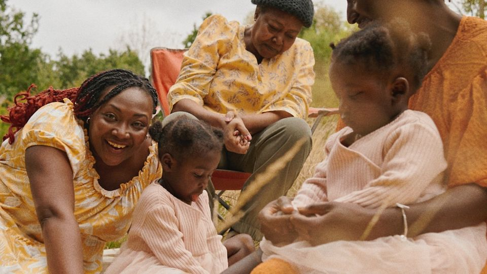 Shot from Pandora's Our Sisterhood series featuring mother Chaneen and family.