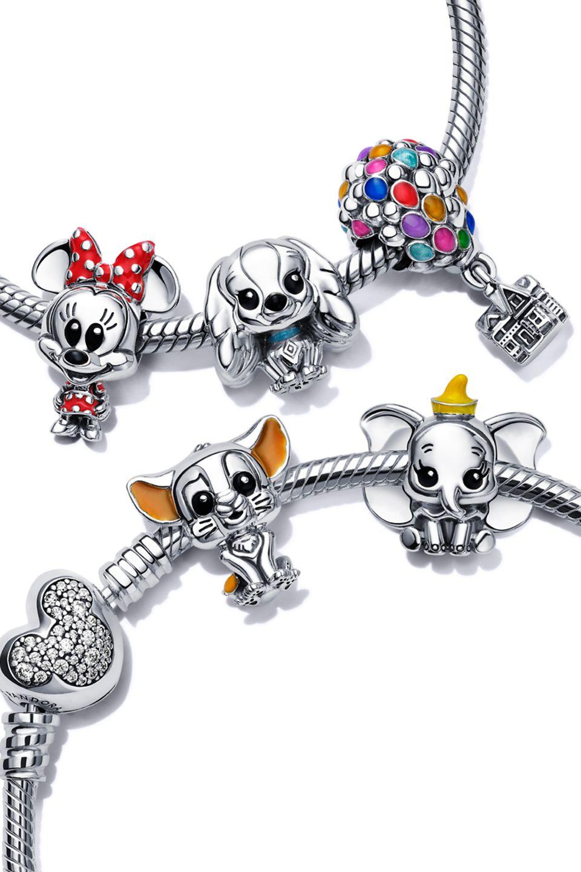 Portacharm in Argento Sterling 925 con charm Disney x Pandora Favourites