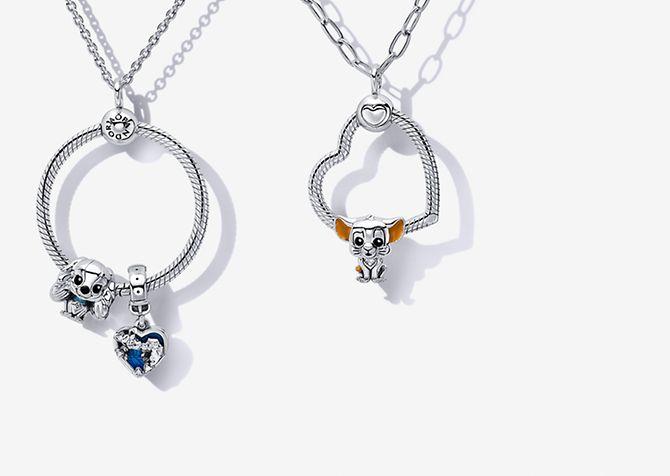 Pandora O Pendants aus Sterling-Silber mit Disney x Pandora Favourites Charms