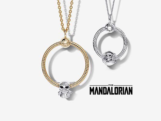 Pandora O-kollektionens hängsmycken och halsband med berlocker från Star Wars x Pandora