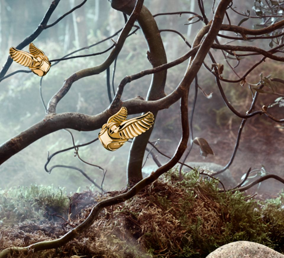 Harry Potter Golden Snitch earrings, pendant and charms