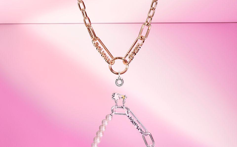 Rosévergoldete Halskette