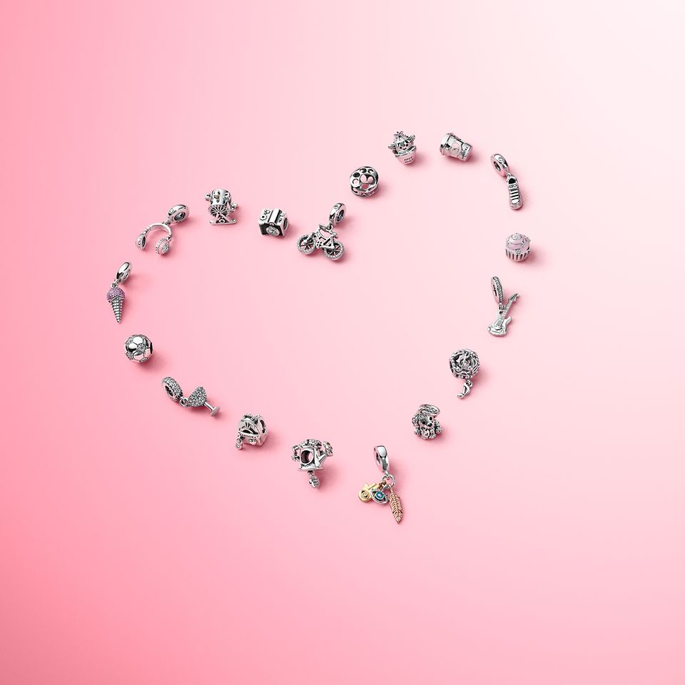 Wear charms that highlight what you love with the Pandora Passions collection.